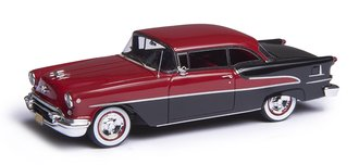 1:43 1955 Oldsmobile Super Holiday Model 88 2-Door Hard Top (Red/Black)