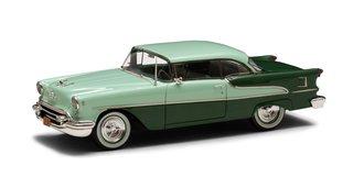 1:43 1955 Oldsmobile Super Holiday Model 88 2-Door Hard Top (Green/Green)