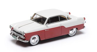 1:43 1955 Willys Aero Bermuda 2-Door Hard Top (Red/White)