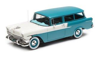 1956 Chevrolet 150 Handyman 2-Door Wagon (Blue/White)