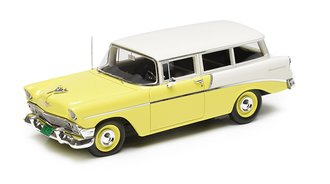 1:43 1956 Chevrolet 210 Handyman 2-Door Wagon (Yellow/White)