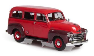1949-53 Chevrolet Suburban w/o Side Skirts & Double Rear Doors (Maroon/Brown)