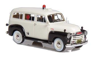 1952 GMC Suburban Ambulance (White/Black)