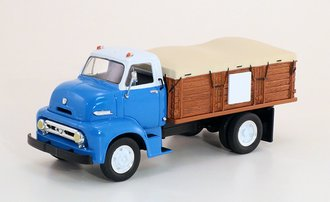 Custom 1953 Ford C-600 Straight Truck w/Grain Bed (Blue)