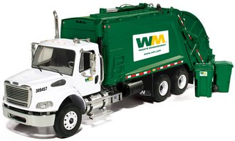 "Freightliner M2 Refuse Truck ""Waste Management"" w/Trash Cans"