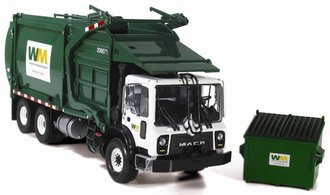 "Mack TerraPro Refuse Truck w/Front End Loader & Bin ""Waste Management"""
