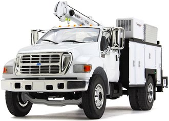 Ford F-650 w/Maintainer Service Body (White)