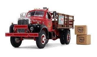 """1:34 Mack B-61 Full Stake Truck """"Mack Trucks"""" w/2 Boxes"""