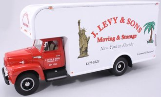 "1:34 1957 International Moving Van ""J. Levy"""