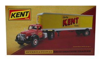 "International KB10 Tractor Trailer ""Kent"" (Red/Yellow)"