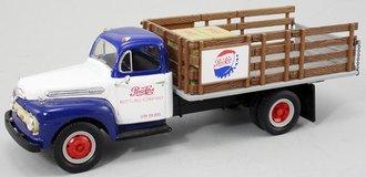 "1951 Ford F-6 Full Rack Stake Truck ""Pepsi-Cola"" (Blue/White)"