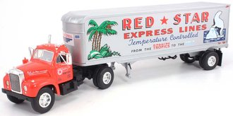 "1960 Mack B-61 w/30' Van Trailer ""Red Star Express"""