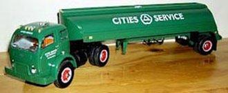 "1953 White w/Tanker Trailer ""Cities Service"""