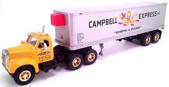 "1960 Mack B-61 Dual-Axle w/35' Van Trailer ""Campbell 66 Express"" w/Reefer Unit"
