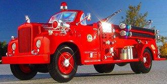 """1960 Mack B-61 Fire Truck """"D.C.F.D."""" (Open)"""