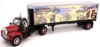 "1960 Mack B-61 w/Van Trailer ""Mack - American Route 66"" w/Playing Cards"