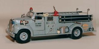 "Mack B-Model Fire Truck Open Top ""US Navy"" (Red)"