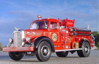 "Mack L-Model Fire Truck ""St. James"" (Red)"