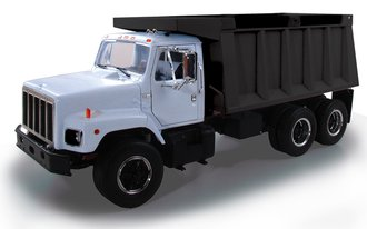 1:25 International S-Series Dump Truck (White/Black)