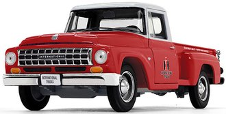 "1:25 1963 International C1100 Pickup ""International Trucks Parts & Service"""