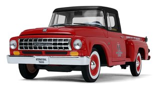 "1:25 1963 International C1100 Pickup ""International Trucks Parts & Service"" (Red/Black)"
