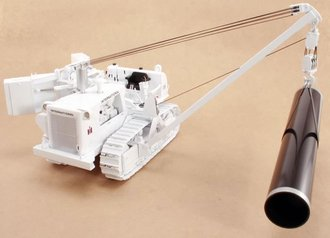 1:25 International TD-25C Crawler w/Side Boom & Winch (White)