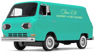 """1:25 1960s Ford Econoline Van """"Clean-Rite Laundry and Dry Cleaners"""""""