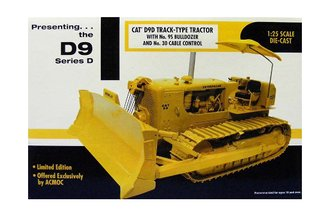 1:25 CAT D9D Track-Type Tractor w/No. 9S Bulldozer & No. 30 Cable Control (1 of 200) (1st ACMOC)