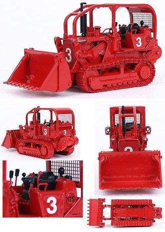 1:50 International 175 Fire Dozer w/4-in-1 Bucket & Winch (Red)