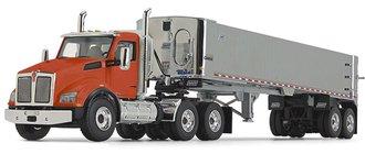 Kenworth T880 w/East Genesis End Dump Trailer (Orange/Chrome)