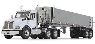Kenworth T880 w/East Genesis End Dump Trailer (White/Chrome)