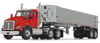 Kenworth T880 w/East Genesis End Dump Trailer (Viper Red/Silver)