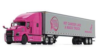 "1:50 Mack Anthem High-Roof Sleeper w/53' Trailer ""Hit Cancer Like a Mack Truck"" (Pink)"