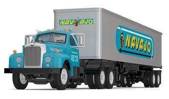 "1:64 Mack B-61 Day Cab w/40' Vintage Van Trailer ""Navajo Freight Lines"""