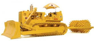 1:25 International TD-25C Dozer w/Sheep's Foot (Yellow)