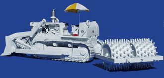 1:25 International TD-25 Crawler w/Sheepsfoot Compactor (White)