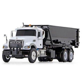 1:87 Mack Granite w/Tub-Style Roll-Off Container (White/Black)