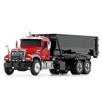 1:87 Mack Granite w/Tub-Style Roll-Off Container (Red/Black)