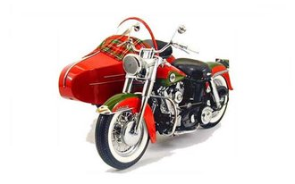 Harley-Davidson 2002 Christmas Motorcycle w/Sidecar (Red)