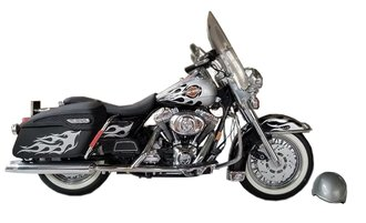 1:10 1999 Harley-Davidson Road King Motorcycle (Black/Silver)