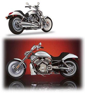 1:10 Harley-Davidson® 2002 VRSCA V-Rod (Silver)