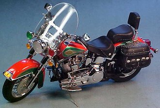 1:10 2003 Harley-Davidson Motorcycle (Green/Red)