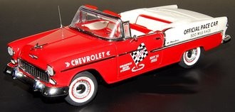 1:24 1955 Chevrolet Bel Air Indy 500 Pace Car (Red/White)