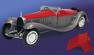 1:24 1929 Bugatti Esders (Gray/Red)