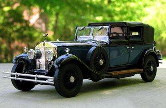 1929 Rolls-Royce Phaeton 1 (Black/Blue)