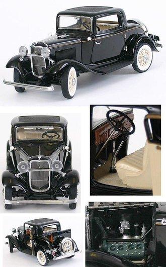 1932 Ford V8 Deuce Coupe (Black)
