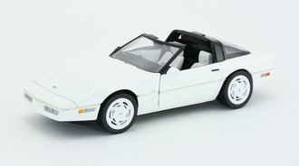 1988 Corvette (White w/Black T-Tops)