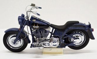 1:10 Harley-Davidson 1990 Blues Missile Fat Boy (Blue)