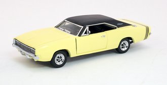 1:43 1968 Dodge Charger R/T (Pale Yellow w/Black Roof)