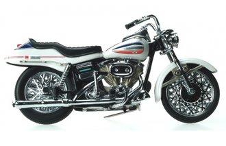 1:10 1971 Harley-Davidson FX Super Glide Motorcycle (White)